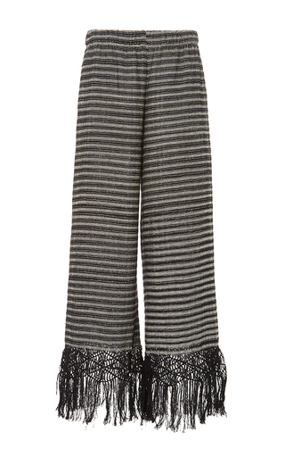 Medium jaline stripe tallulah fisherman knot pants 4