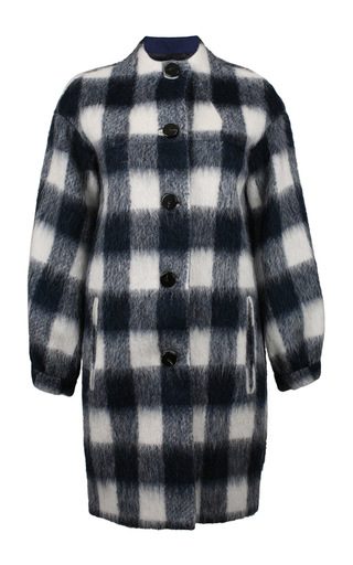 Medium baum und pferdgarten plaid dodo coat