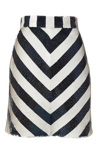 Medium kalmanovich stripe sequin chevron skirt