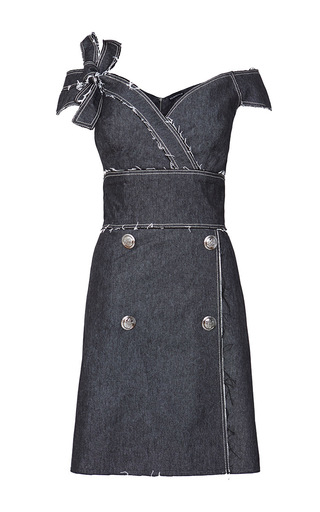 Medium kalmanovich black off the shoulder denim dress