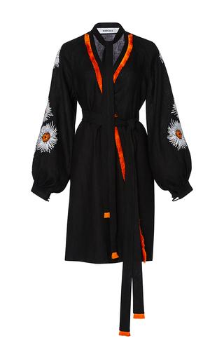 Medium march11 black aster mini wrap dress