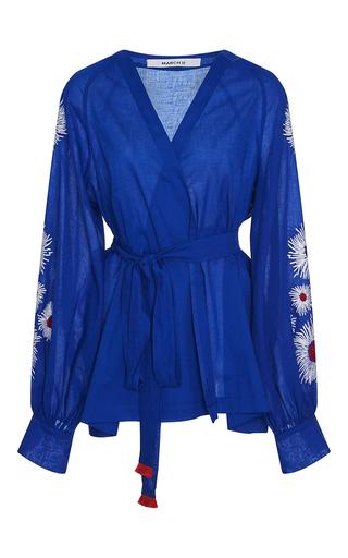 Medium march11 blue aster wrap blouse