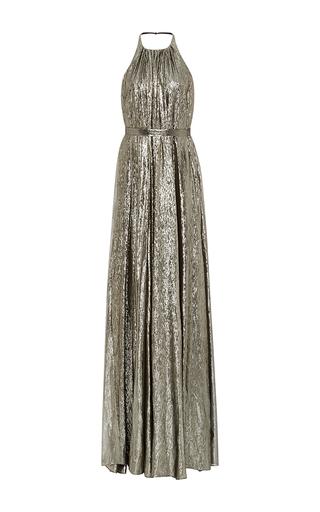 Medium hensely metallic trapeze gown