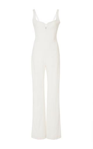Medium galvan white signature corset jumpsuit