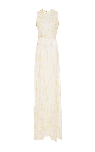 Medium rodarte white lace sleeveless white gown