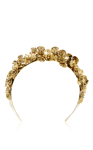 Medium lelet ny gold metal poppies wide headband
