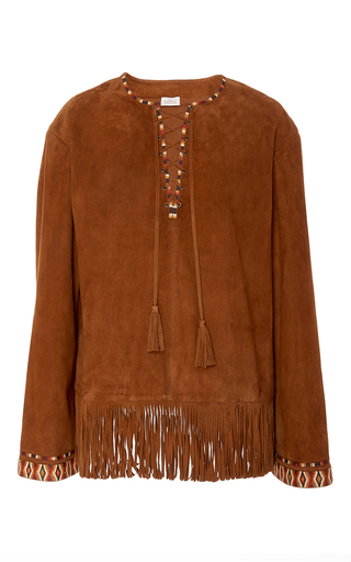 Medium talitha tan suede fringed top