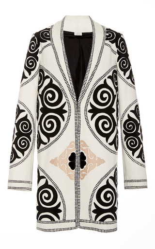 Medium talitha ivory suzani tailored coat