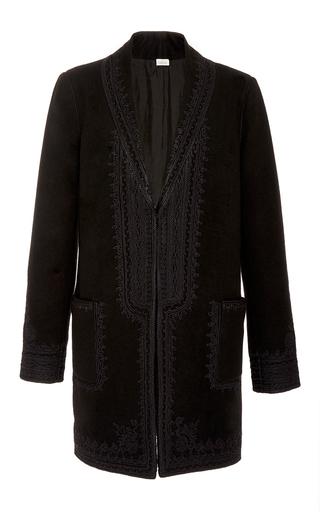 Medium talitha black black folk embroidered tailored coat