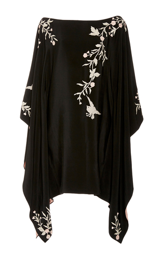 Medium talitha black embroidered kimono dress