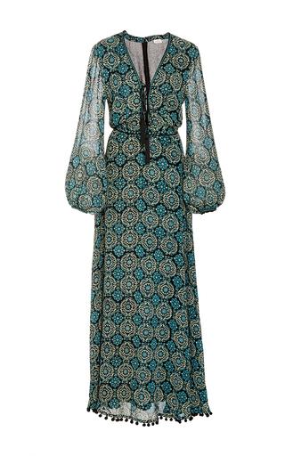 Medium talitha green marissa print tie front dress