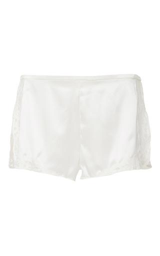 Medium fleur du mal white jade lace tap shorts