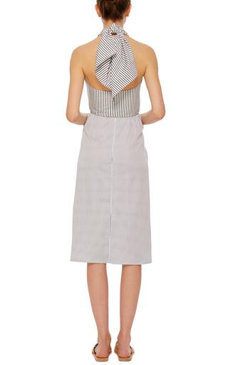 Satin Stripe Drape Front Skirt by TOME Now Available on Moda Operandi