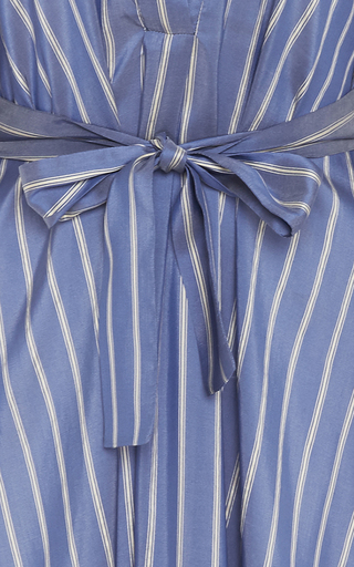 V Neck Silk Stripe Shirt Dress by TOME Now Available on Moda Operandi