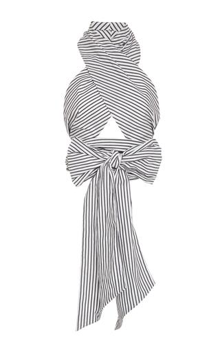 Medium tome stripe stripe oversized wrap top