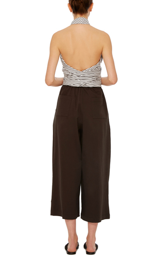 Chocolate Cotton Twill Karate Pants by TOME Now Available on Moda Operandi
