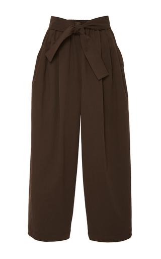 Medium tome brown chocolate cotton twill karate pants
