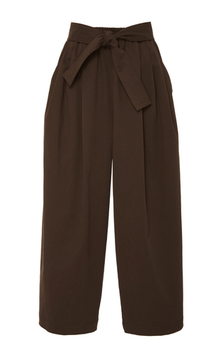 Medium tome brown chocolate cotton twill karate pants
