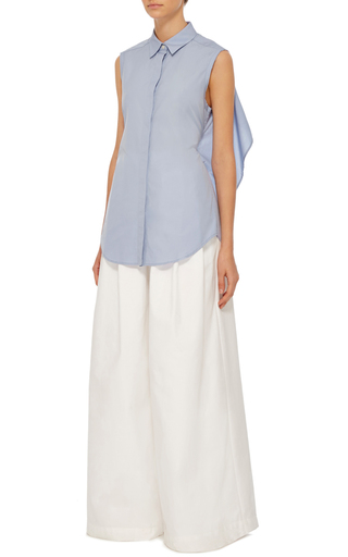 Cotton Poplin Tie Back Shirt by TOME Now Available on Moda Operandi