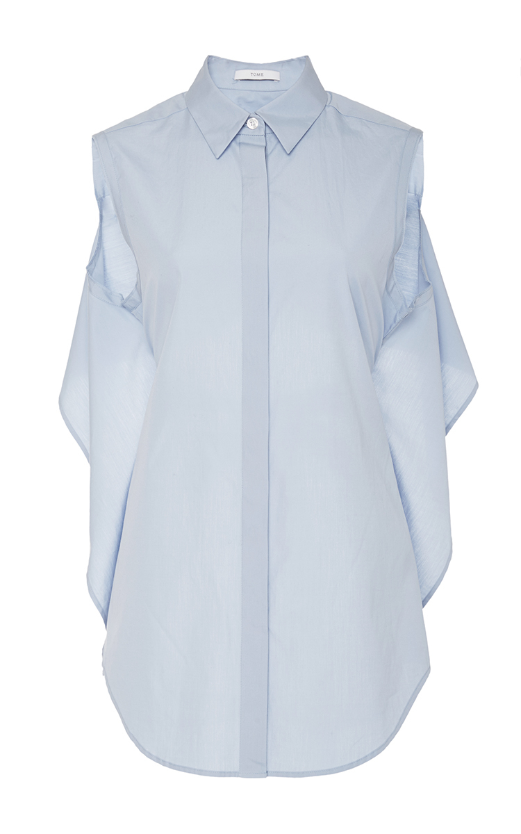 Cotton poplin tie back shirt by tome moda operandi for How to make a tie back shirt