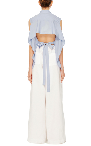 White Cotton Twill Karate Pants by TOME Now Available on Moda Operandi