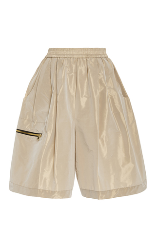 Medium tome tan taffeta karate shorts