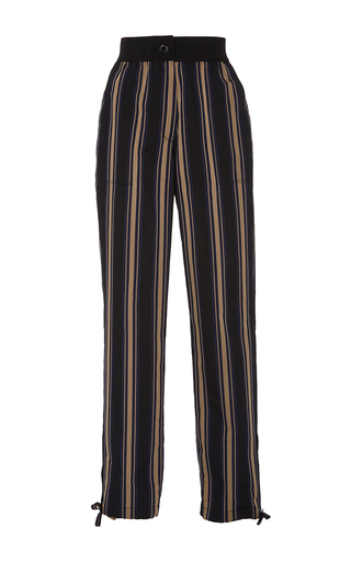 Medium tome stripe silk cotton skinny pants