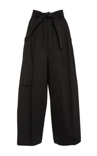 Medium tome black cotton sateen karate pants