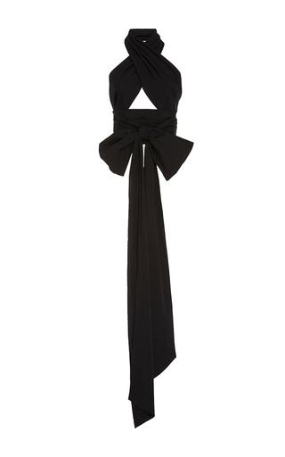 Medium tome black black oversized wrap top