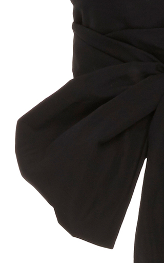 Black Oversized Wrap Top by TOME Now Available on Moda Operandi