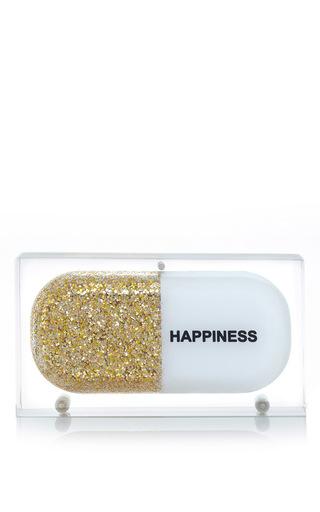 Medium sarah s bag gold gold glitter happiness pill clutch