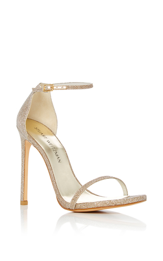 Medium stuart weitzman  2 silver nudist sandal