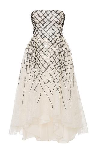 Medium cristina ottaviano white chantilly lace cocktail dress