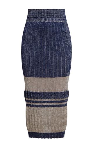 Medium ksenia seraya dark grey knit pleated midi skirt