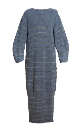 Medium ksenia seraya dark grey striped knit dress
