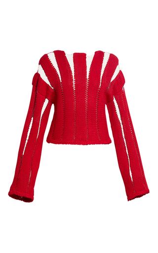 Medium ksenia seraya red hand knit sweater