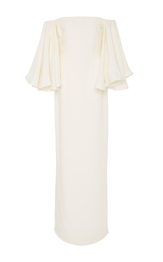Medium houghton ivory gamila flared sleeve dress