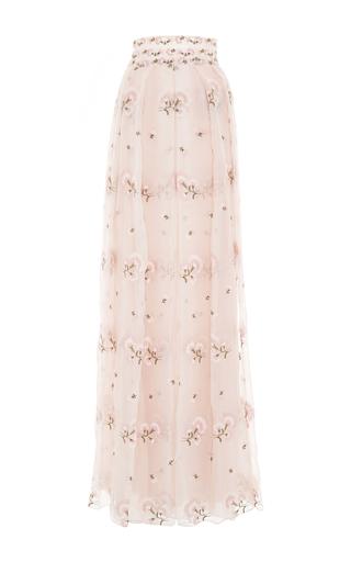 Medium luisa beccaria pink high waist floral embroidered skirt