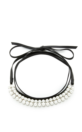 Medium fallon multi monarch pearl choker 1