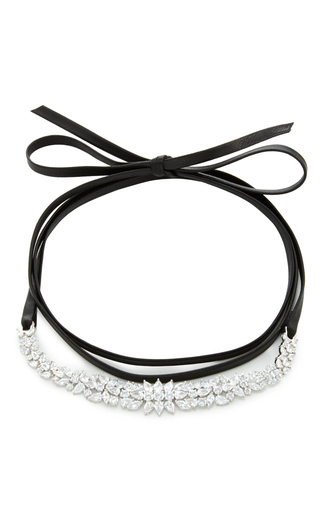 Medium fallon silver 100 stone choker