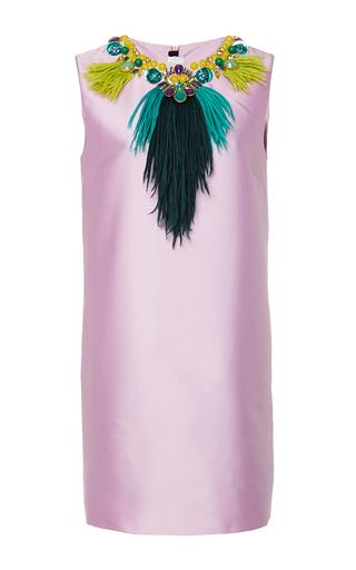 Medium gem light pink eclisse sleeveless shift dress