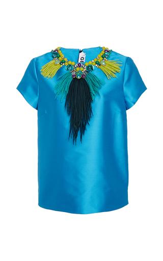 Medium gem blue elisir embellished top