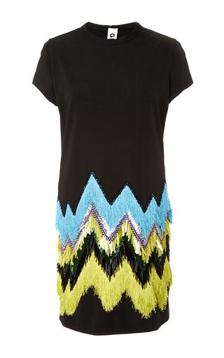 Medium gem black annie fringe dress