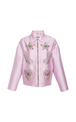 Medium gem light pink morgana embellished jacket