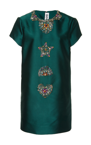 Medium gem green mabel embellished shift dress