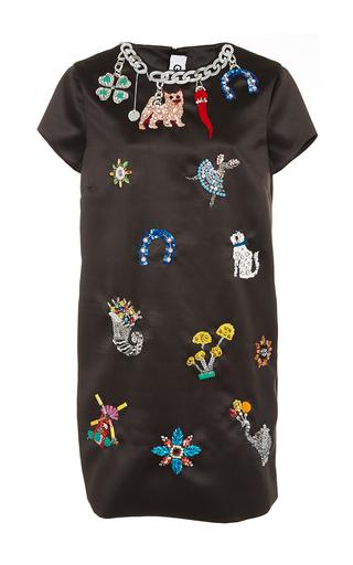 Medium gem black bijou embellished shift dress