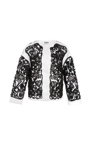 Medium gem white ivette soutage jacket