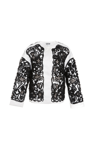 Medium gem white ivette soutage jacket