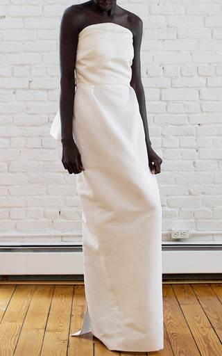 Medium rosie assoulin ivory strapless bow dress