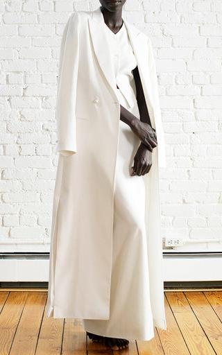 Medium rosie assoulin white full length coat